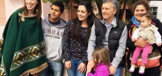 Con María Eugenia Vidal y Antonia, Mauricio Macri encabezó un nuevo timbreo de Cambiemos