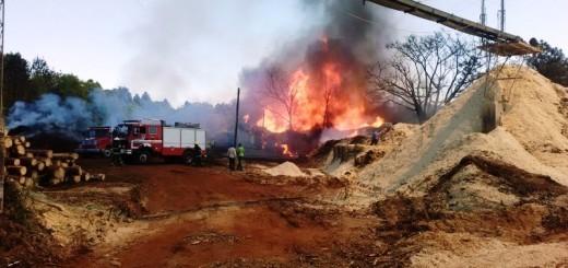 Eldorado: Se produjo un incendio este mediodía en el aserradero El Lago