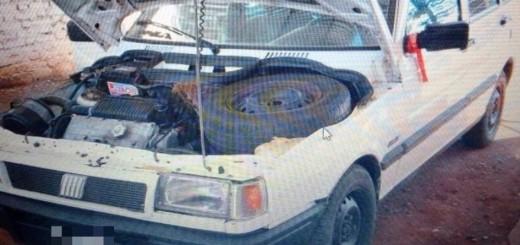 Lo sorprendieron con el auto adulterado en la planta de Verificaciones de la Policía