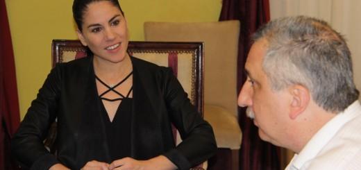El Gobernador Hugo Passalacqua recibió a la bailarina Paloma Herrera