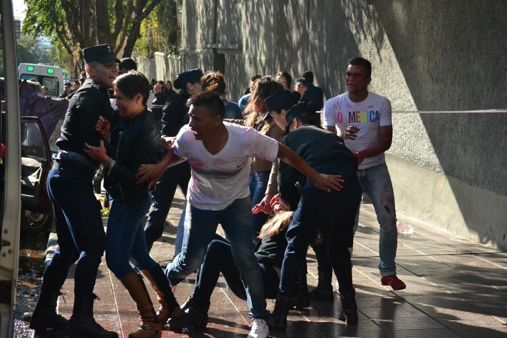 Exitoso simulacro de accidente con múltiples heridos en pleno centro de Posadas