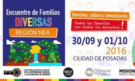 Mañana comenzará el encuentro de familias diversas en Posadas