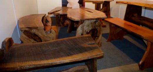 Muebles artesanales con estilo únicos y ecológicos se lucieron en la Feria Forestal Argentina