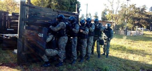 El Grupo de Operaciones Especiales se capacitó en allanamientos de alto riesgo