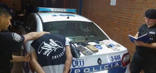 Le arrebató la cartera a una mujer y luego se resistió al arresto armado con un cuchillo