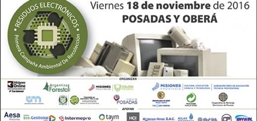 Se realizará en noviembre la campaña ambiental de recolección de residuos electrónicos en Posadas y Oberá