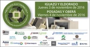 La campaña ambiental de recolección de residuos electrónicos se realizará en noviembre en Misiones