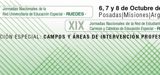 Inscriben a las Jornadas Nacionales de la Red Universitaria de Educación Especial