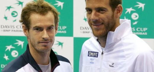 Copa Davis: Del Potro abre la serie ante Murray