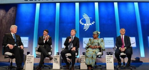 Mauricio Macri participó en una charla junto a Bill Clinton y convocó a invertir en la Argentina