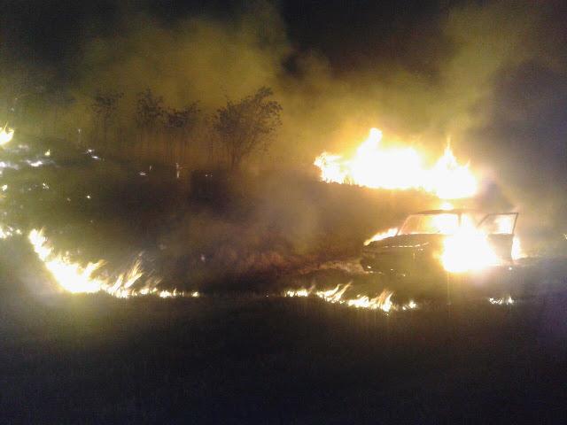 Iba por la ruta 14 desde Dos de Mayo a San Vicente y se le incendió el auto