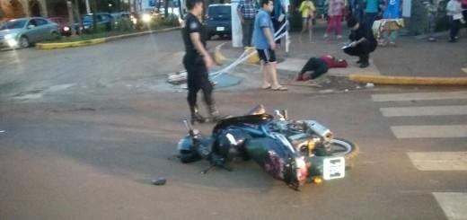 Mujer atropellada por una moto en Eldorado