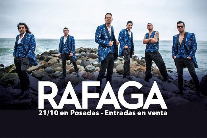 Ráfaga se presenta en Posadas y no te lo vas a perder: Compras Misiones te vende las entradas hasta en 6 cuotas