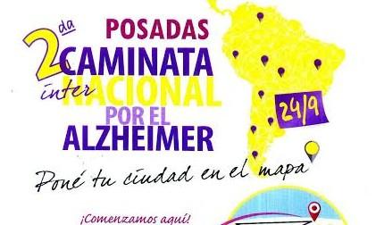 Recuerdan que el sábado 24 de septiembre se realizará la 2º Caminata Internacional por el Alzheimer