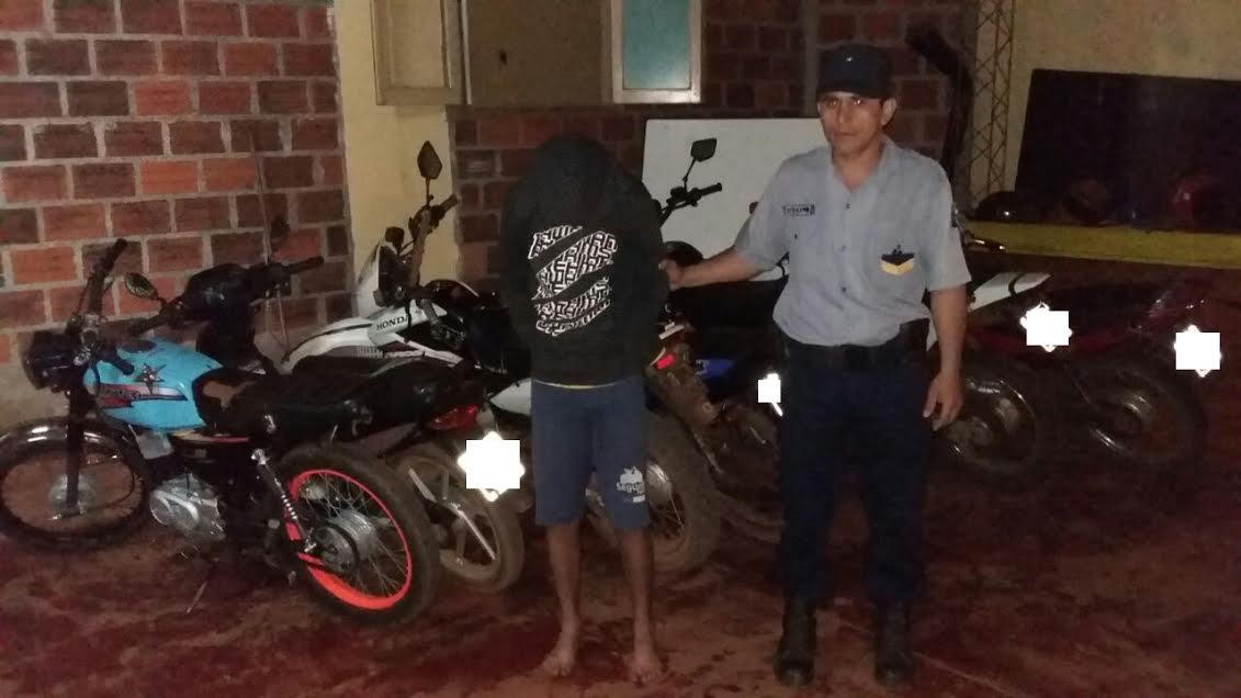 Diez motos, un automóvil secuestrados y un detenido en operativo en Colonia Aurora