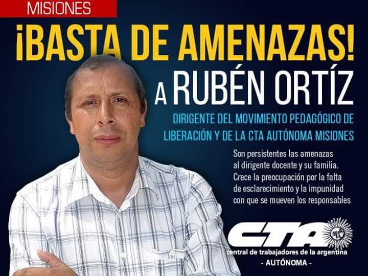 Habló la acusada sobre supuestas amenazas a Rubén Ortiz