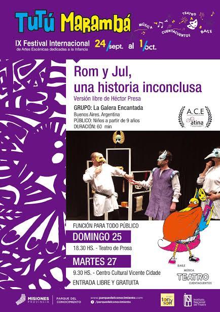 Romeo y Julieta se suben a las tablas del Tutú Marambá