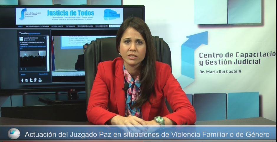 También ante el Juzgado de Paz se puede denunciar Violencia Familiar y/o de género