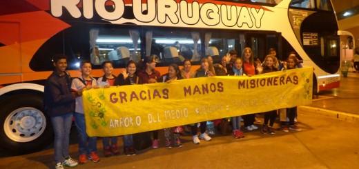 Cumplirán hoy el sueño de conocer el mar estudiantes que terminan la primaria en escuelas rurales de Arroyo del Medio