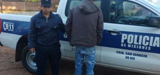 San Ignacio: quiso prenderle fuego a su familia y lo arrestaron