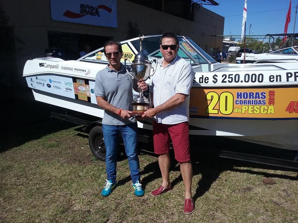 Darío Warenycia y Luis Domínguez se quedaron con la 45º edición de las 20 Horas de Pesca