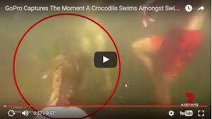 VIDEO: un adolescente es atacado por un cocodrilo y es captado por una GoPro
