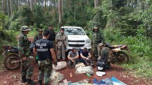 Sorprenden a un grupo de cazadores en Yabotí