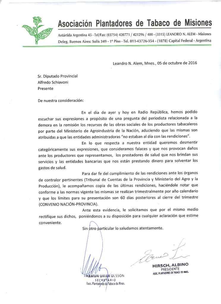 Asociación tabacalera repudió dichos de diputado del PRO y pide que se rectifique