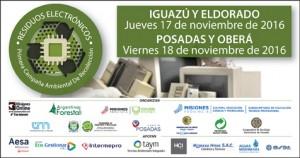 En noviembre habrá recolección de residuos electrónicos en Iguazú, Eldorado, Oberá y Posadas