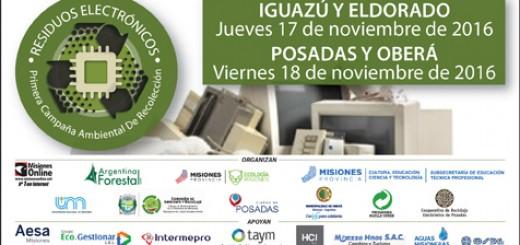 En Posadas, Oberá, Eldorado e Iguazú se hará en noviembre la campaña de recolección de residuos electrónicos
