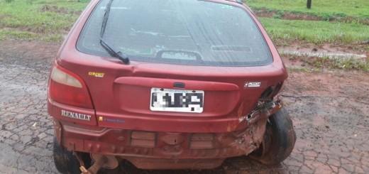 San Vicente: se despistó un auto en la ruta provincial 13