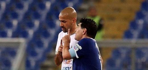 ¿Partido por la Paz? Maradona y Verón se cruzaron feo por viejos rencores