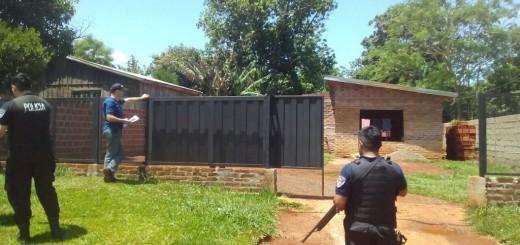 Asalto a los policías en Oberá: allanan una casa y hallan los elementos robados