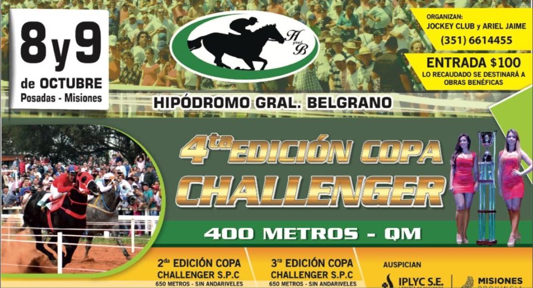 Gran expectativa para la copa Challenger en el Hipódromo Belgrano de Posadas