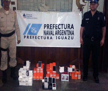 Puerto Iguazú: interceptan una carga de celulares contrabandeados