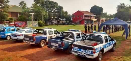 Importante operativo policial en la zona urbana de Puerto Iguazú