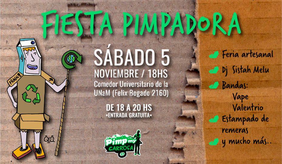 La fiesta Pimpadora llega a Posadas para visualizar el trabajo de los cartoneros