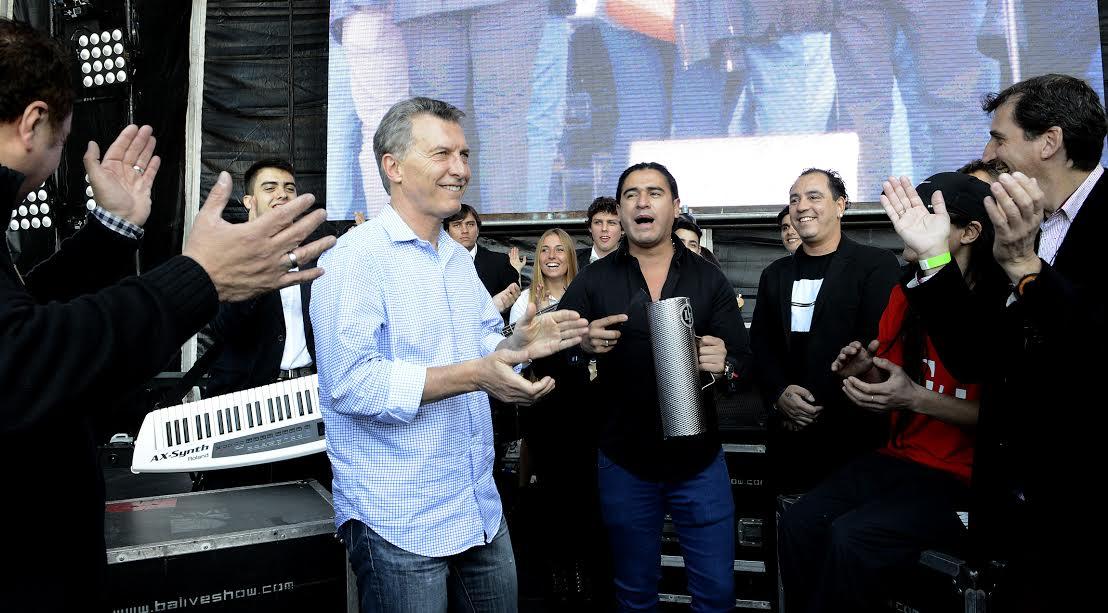 Macri bailó al ritmo de la cumbia en Tecnópolis