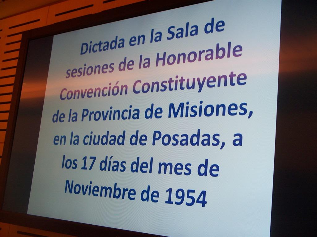 """En el """"Día del provinciano misionero"""" recordaron la sanción de la primera Constitución provincial en 1954"""