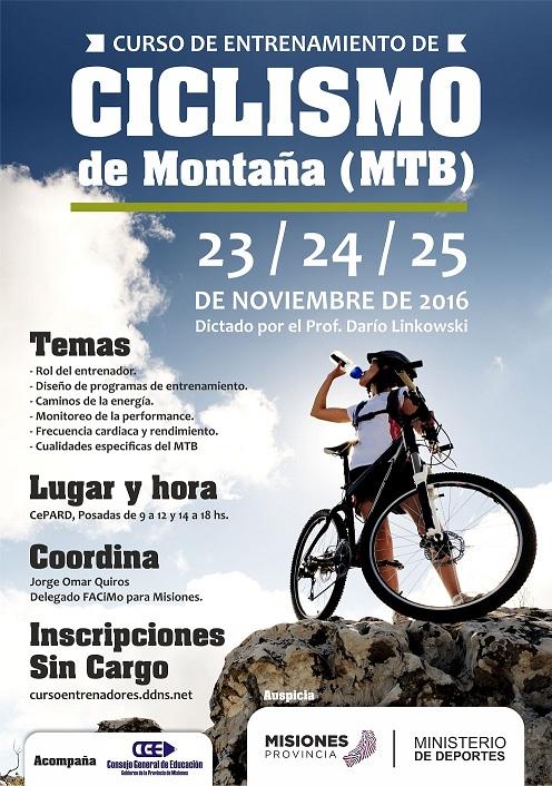Ciclismo de Montaña: Realizarán curso de entrenamiento en el CePARD