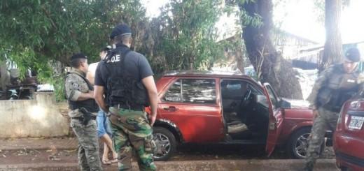 Intenso operativo policial en el barrio Villa Urquiza de Posadas
