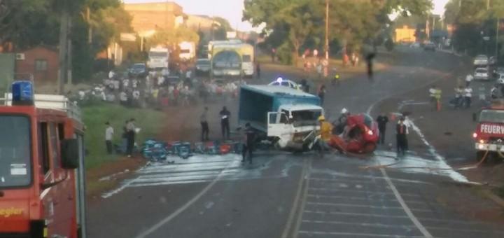 Choque múltiple dejó cuatro personas fallecidas en Garuhapé