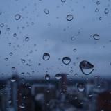 Calles anegadas en Posadas, tras la mañana de lluvia