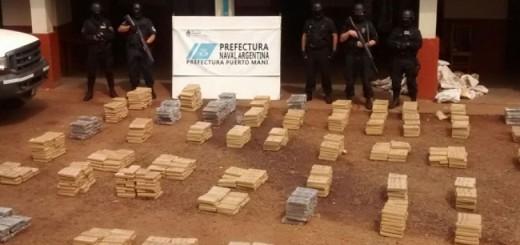 Secuestraron más de 1500 kilos de marihuana en Corpus