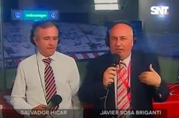 Comentarista de la TV paraguaya enojado por la actuación de la Albirroja