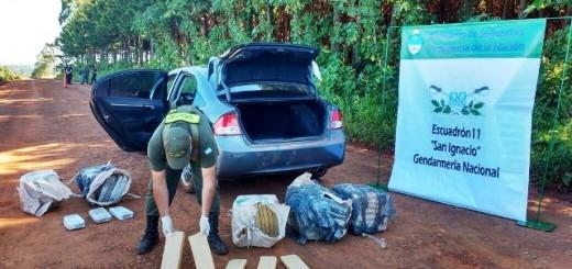 Secuestraron 150 kilos de marihuana ocultos en un automóvil en un operativo realizado en Colonia Oasis