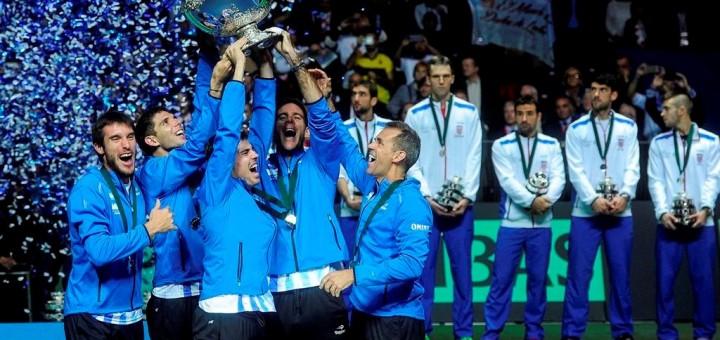 ¡Argentina ganó la Copa Davis y toca el cielo con las manos!
