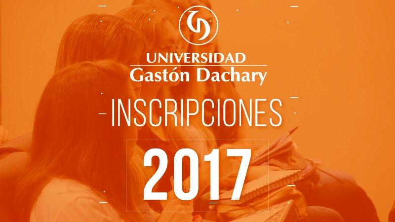 Inscripciones 2017 en la UGD