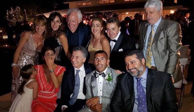 Vea toda la intimidad del casamiento de Tevez