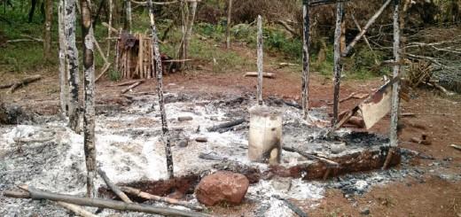 Incendio destruyó una vivienda familiar en San Pedro